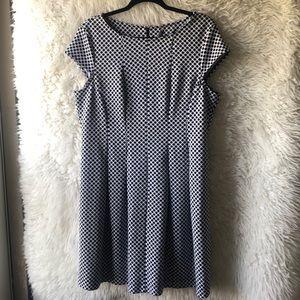 Black and White Polka Dot Dress - Size Large
